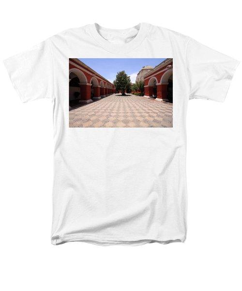 Plaza At Santa Catalina Monastery Men's T-Shirt  (Regular Fit) by Aidan Moran
