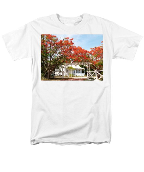 Poinciana Cottage Men's T-Shirt  (Regular Fit) by Amar Sheow