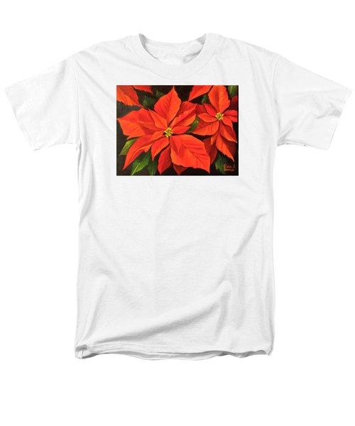 Poinsettia  Men's T-Shirt  (Regular Fit) by Katia Aho
