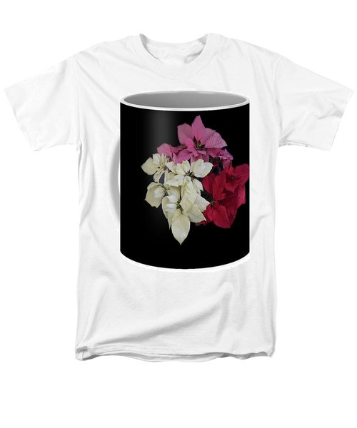 Men's T-Shirt  (Regular Fit) featuring the jewelry Poinsettia Tricolor Mug  by R  Allen Swezey
