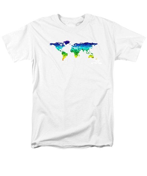 Point Map Men's T-Shirt  (Regular Fit) by Roger Lighterness