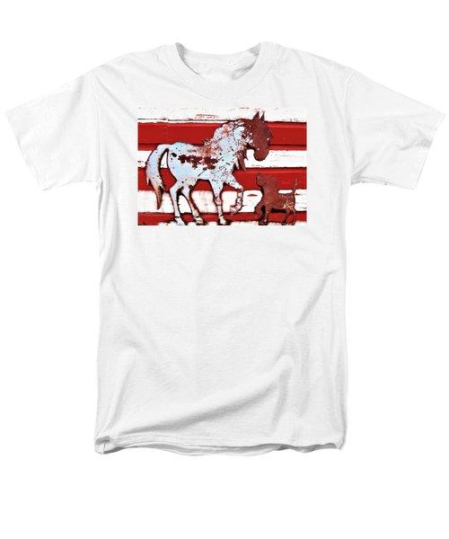 Pony And Pup Men's T-Shirt  (Regular Fit)