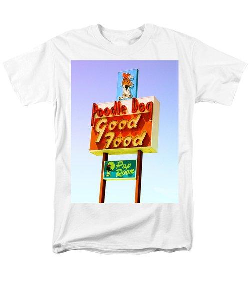Poodle Dog Diner Men's T-Shirt  (Regular Fit) by Kathleen Grace