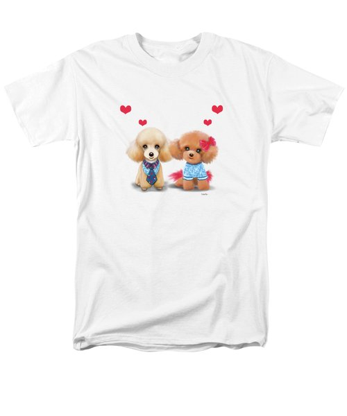 Poodles Are Love Men's T-Shirt  (Regular Fit) by Catia Cho