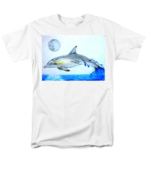Men's T-Shirt  (Regular Fit) featuring the drawing Porpoise by Mayhem Mediums