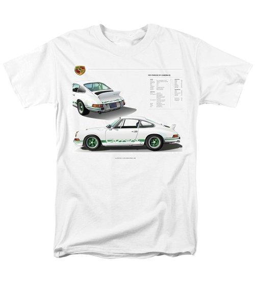 Porsche 911 Carrera Rs Illustration Men's T-Shirt  (Regular Fit) by Alain Jamar