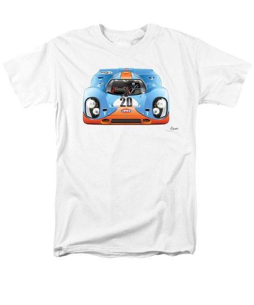 Porsche 917 Gulf On White Men's T-Shirt  (Regular Fit) by Alain Jamar