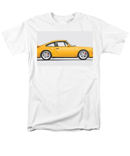 Porsche 964 Carrera Rs Illustration In Yellow. Men's T-Shirt  (Regular Fit) by Alain Jamar