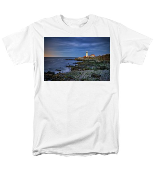 Men's T-Shirt  (Regular Fit) featuring the photograph Portland Head Aglow by Rick Berk