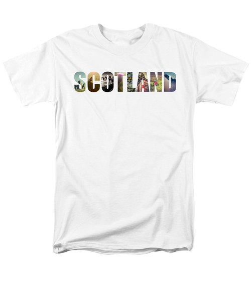 Postcard For Scotland Men's T-Shirt  (Regular Fit) by Mr Doomits
