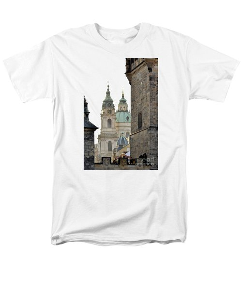 Men's T-Shirt  (Regular Fit) featuring the digital art Prague-architecture 3 by Leo Symon