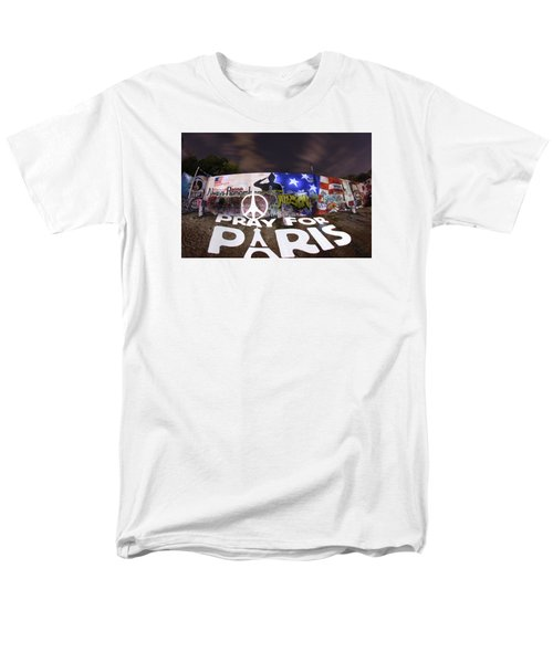 Pray For Paris Men's T-Shirt  (Regular Fit) by Andrew Nourse