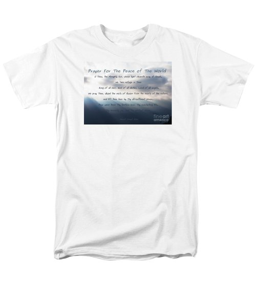 Men's T-Shirt  (Regular Fit) featuring the photograph Prayer For The Peace Of The World by Agnieszka Ledwon