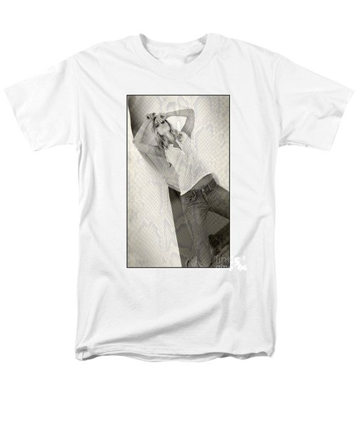 Pretty Girl On Her Knees Men's T-Shirt  (Regular Fit) by Michael Edwards