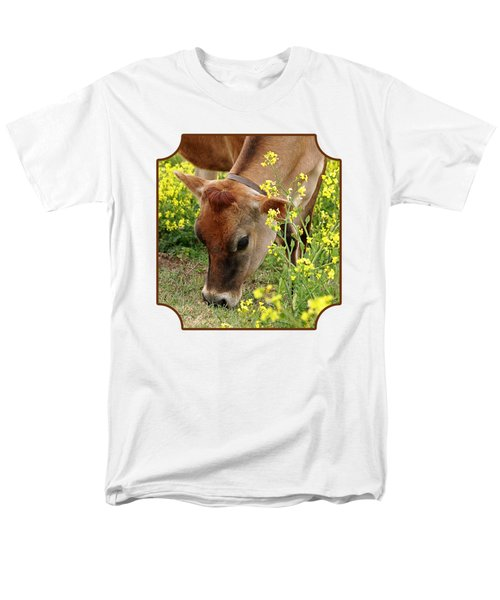 Pretty Jersey Cow Square Men's T-Shirt  (Regular Fit)