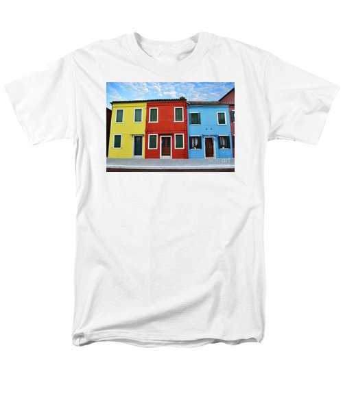 Men's T-Shirt  (Regular Fit) featuring the photograph Primary Colors Too Burano Italy by Rebecca Margraf