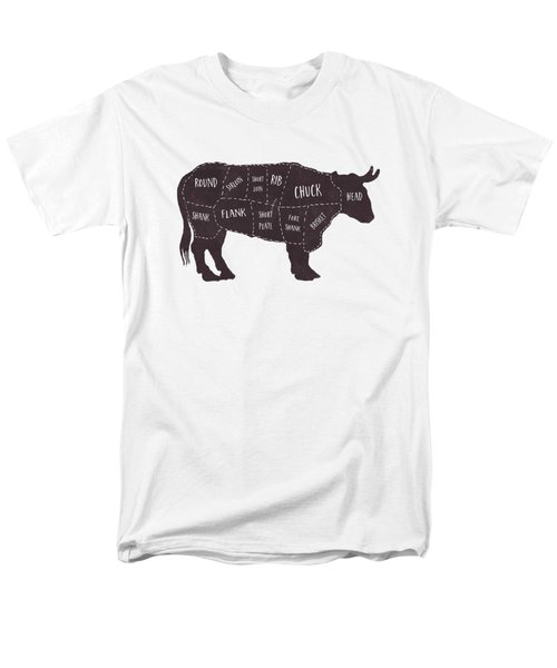 Primitive Butcher Shop Beef Cuts Chart T-shirt Men's T-Shirt  (Regular Fit) by Edward Fielding