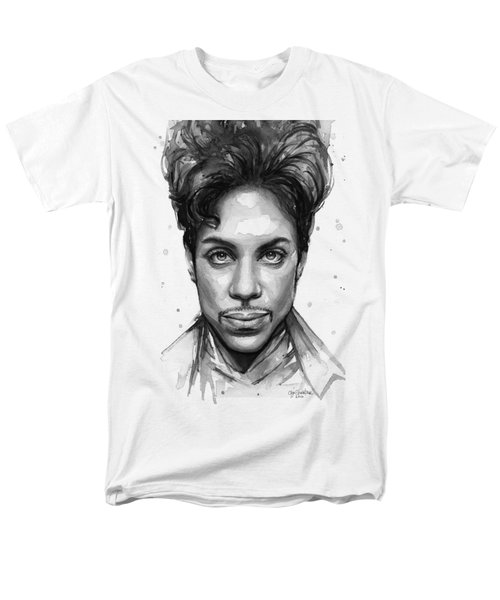 Prince Watercolor Portrait Men's T-Shirt  (Regular Fit) by Olga Shvartsur