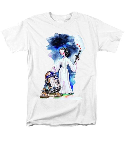 Princess Leia Illustration Men's T-Shirt  (Regular Fit) by Isabel Salvador