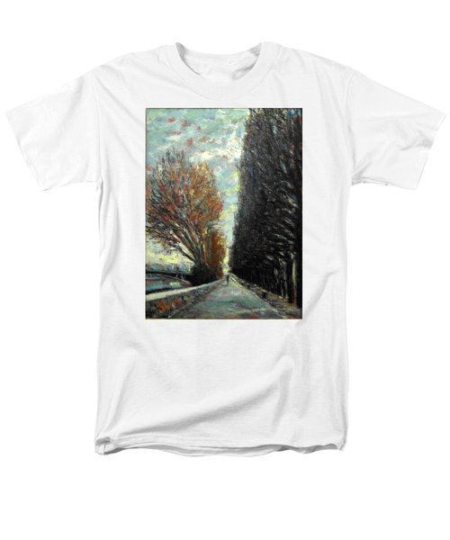 Men's T-Shirt  (Regular Fit) featuring the painting Promenade by Walter Casaravilla