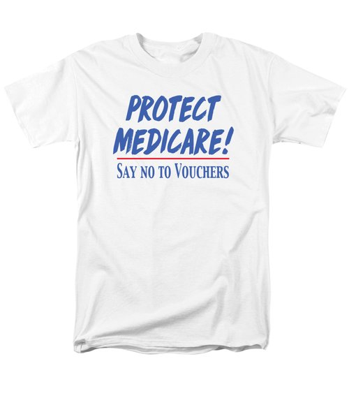 Men's T-Shirt  (Regular Fit) featuring the drawing Protect Medicare by Heidi Hermes