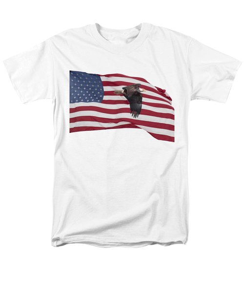 Men's T-Shirt  (Regular Fit) featuring the photograph Proud To Be An American by Thomas Young