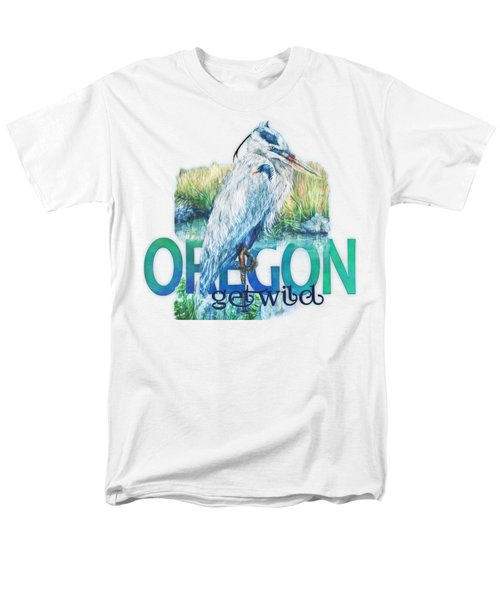 Puddletown Great Blue Heron Men's T-Shirt  (Regular Fit) by Kara Skye