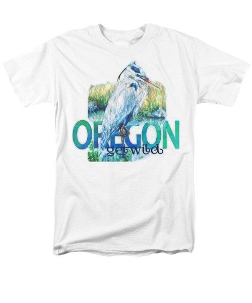 Puddletown Great Blue Heron Men's T-Shirt  (Regular Fit)