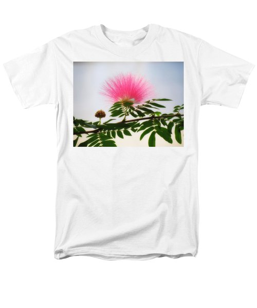 Puff Of Pink - Mimosa Flower Men's T-Shirt  (Regular Fit) by MTBobbins Photography