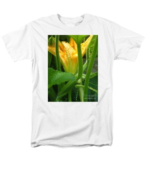 Men's T-Shirt  (Regular Fit) featuring the photograph Pumpkin Blossom by Christina Verdgeline