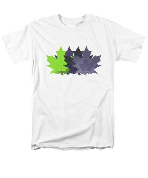 Purple And Green Leaves Men's T-Shirt  (Regular Fit) by Methune Hively