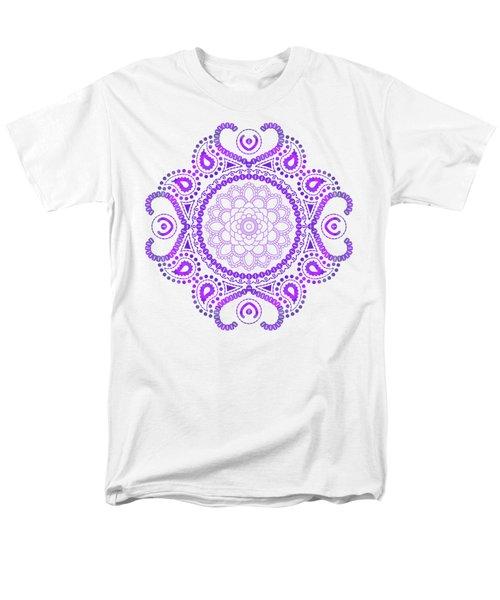 Purple Lotus Mandala Men's T-Shirt  (Regular Fit)