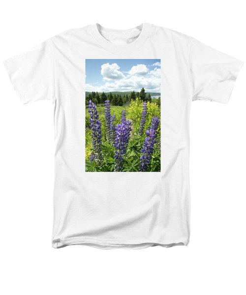Purple Lupines Men's T-Shirt  (Regular Fit)