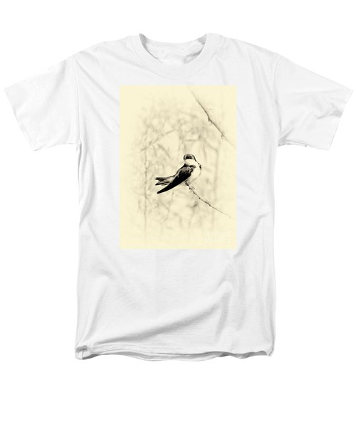Men's T-Shirt  (Regular Fit) featuring the photograph Purple Martin by Lila Fisher-Wenzel