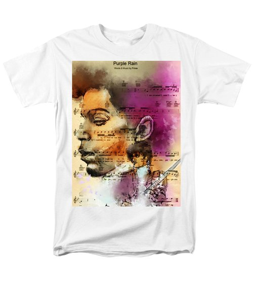 Purple Rain Forever Men's T-Shirt  (Regular Fit) by Howard Barry