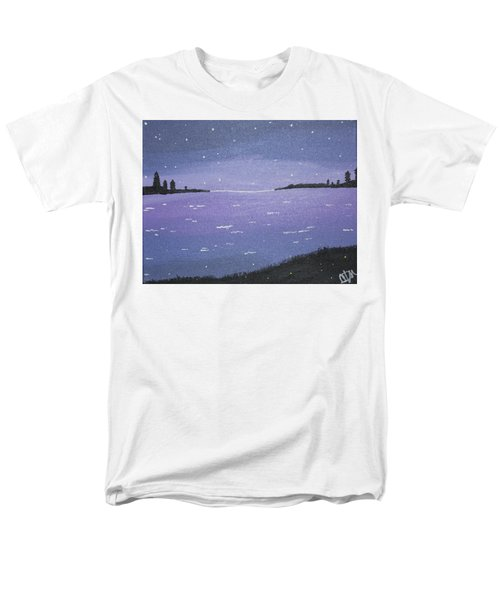 Purple Skies Men's T-Shirt  (Regular Fit) by Cyrionna The Cyerial Artist