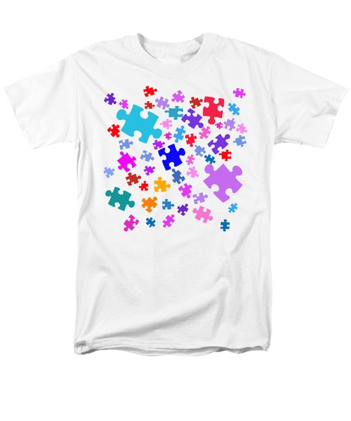 Puzzle Pieces Men's T-Shirt  (Regular Fit) by Bill Owen
