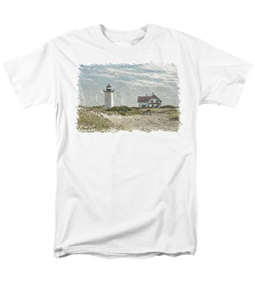 Men's T-Shirt  (Regular Fit) featuring the photograph Race Point Lighthouse by Paul Miller