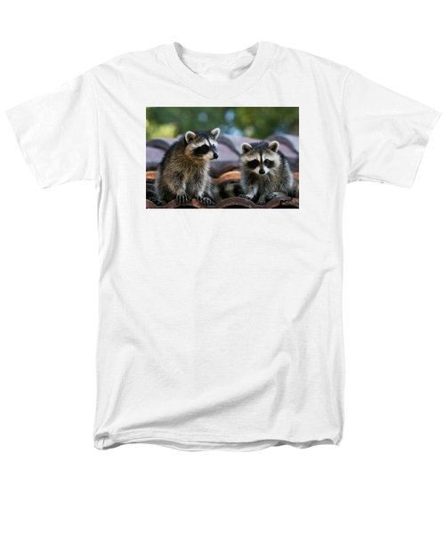 Racoons On The Roof Men's T-Shirt  (Regular Fit) by Dorothy Cunningham