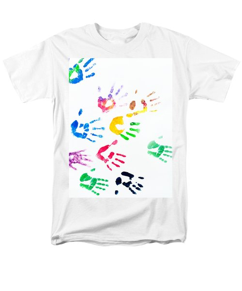 Men's T-Shirt  (Regular Fit) featuring the photograph Rainbow Color Arms Prints by Jenny Rainbow