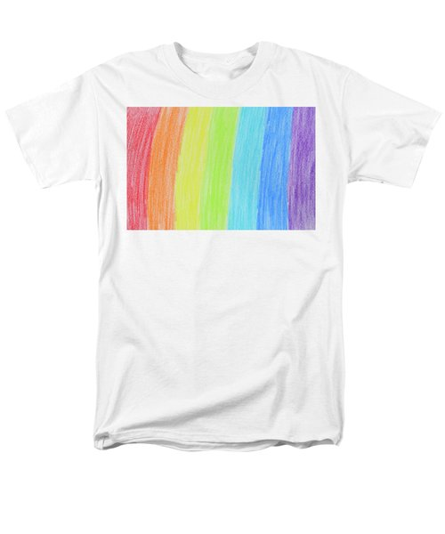 Rainbow Crayon Drawing Men's T-Shirt  (Regular Fit) by GoodMood Art
