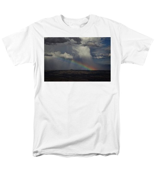 Rainbow Storm Over The Verde Valley Arizona Men's T-Shirt  (Regular Fit) by Ron Chilston