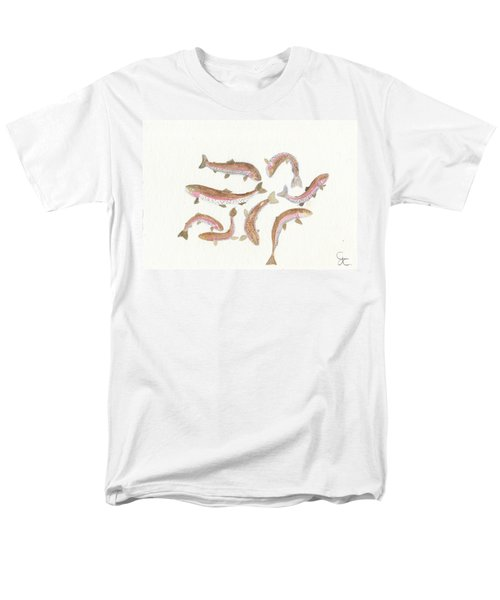 Rainbow Trout Men's T-Shirt  (Regular Fit) by Gareth Coombs