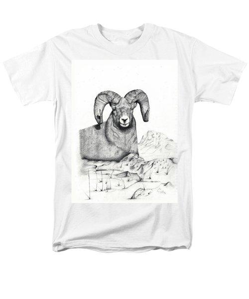 Men's T-Shirt  (Regular Fit) featuring the drawing Ram by Mayhem Mediums