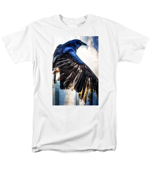 Men's T-Shirt  (Regular Fit) featuring the photograph Raven Attitude by Carolyn Marshall
