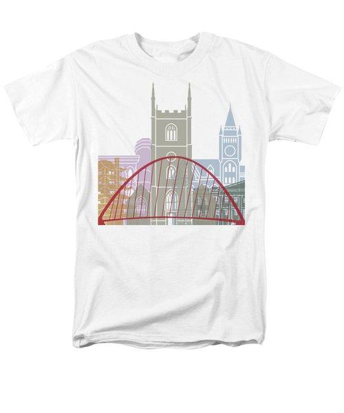 Reading Skyline Poster Men's T-Shirt  (Regular Fit) by Pablo Romero