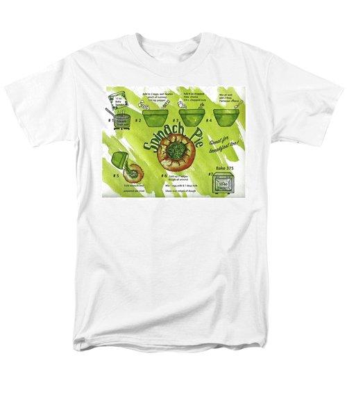 Recipe-spinach Pie Men's T-Shirt  (Regular Fit)