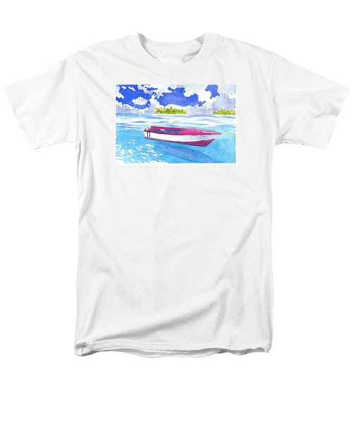 Red And White Men's T-Shirt  (Regular Fit) by Anne Marie Brown