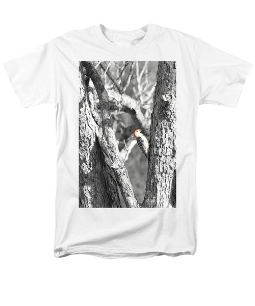 Men's T-Shirt  (Regular Fit) featuring the photograph Red-bellied Woodpecker by Benanne Stiens