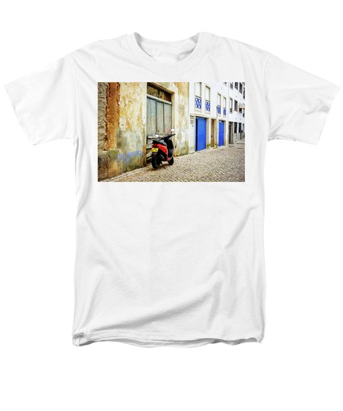 Men's T-Shirt  (Regular Fit) featuring the photograph Red Bike by Marion McCristall